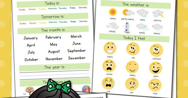 Calendar Notebook App : Preschool calendar notebook mobiles names and mobile app