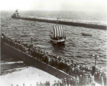 Leif Erikson Arriving Duluth Minnesota June 24 1927 Minnesota