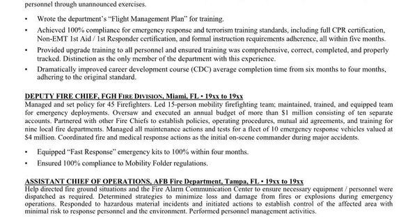 fighter resume more about our firefighting and