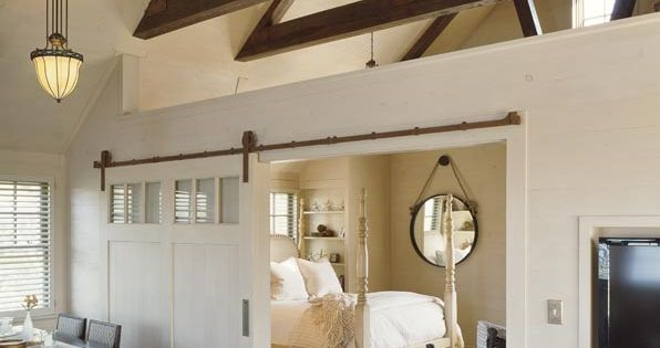 Open Floor Plan Master Bedroom Love The Mirror Four Post Bed Floors Open Beams Ceiling