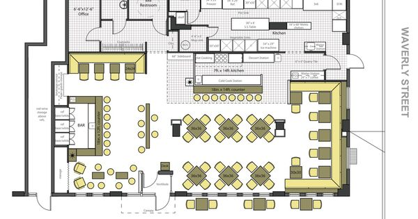 Restaurant floor plans ideas google search plan pinterest restaurants commercial and bar for Plan bar cuisine