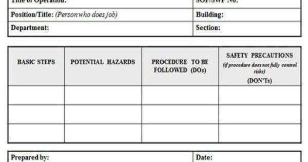 Risk u003d Probability + Severity - job safety analysis form template