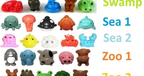 Squishy Animals Pencil Toppers : 35pcs SQWISHLAND SQUISHY SQUISHIES PENCIL TOPPER ~ AS PICTURED NO RANDOM Pencil toppers