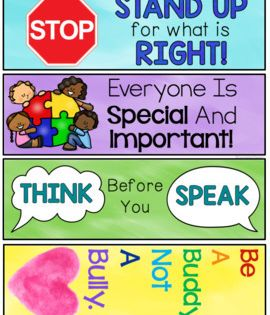 Bullying Prevention Bookmarks Free By Counselor Chelsey Tpt Bullying Prevention Bullying Prevention