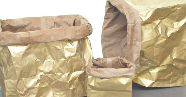 a daily something: diy | metallic sack (or wrapping paper!)