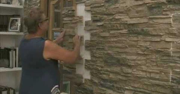Montaje de paneles imitaci n piedra eco decora en paredes - Piedras para interiores ...