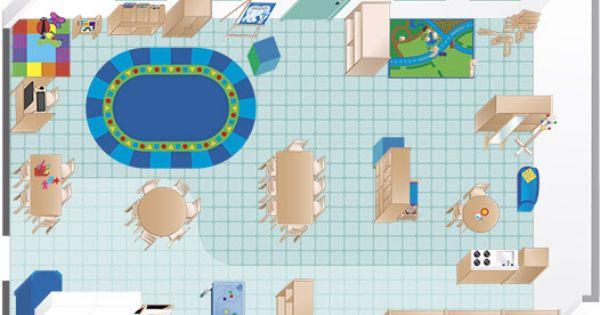 floor plan An Environments Pre-K | Play school decor