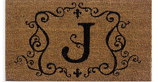 Monogram Doormat Insert In Letter Quot J Quot J Pinterest