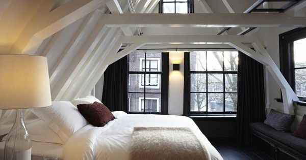 Attic bedroom, gorgeous windows and light and ceilings. {10 Attic Loft Bedrooms,