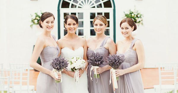 Dusty lavender bridesmaid dresses
