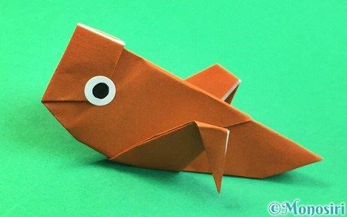 折り紙でコオロギの折り方 折り紙 秋 折り紙 おりがみ