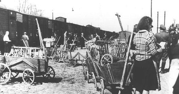 Verladung Von Deutschen In Niederschlesien 1945 Schlesien Ostpreussen Breslau