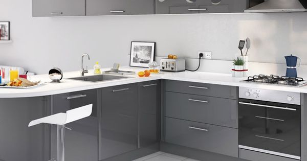 cuisine cooke lewis subway gris prix promo castorama ttc maison pinterest. Black Bedroom Furniture Sets. Home Design Ideas
