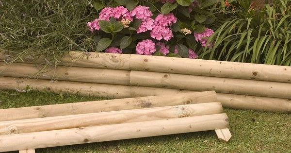 Wood flower bed border google search ahh summer for Wooden flower bed borders