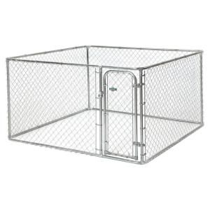 Lucky Dog 4 Ft H X 5 Ft W X 10 Ft L Or 4 Ft H X 8 Ft W X 6 5 Ft L 2 In 1 Galvanized Chain Link With Pc