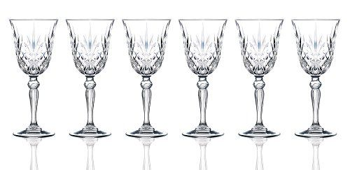Rcr Crystal Melodia Collection Water Glass Set Crystal Wine Glasses Liquor Glass Liquor Glasses