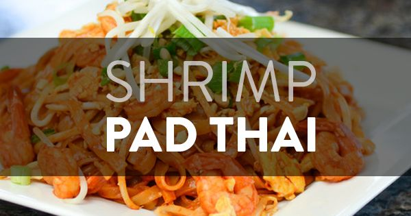 Shrimp pad thai, Cooking videos and Chef recipes on Pinterest