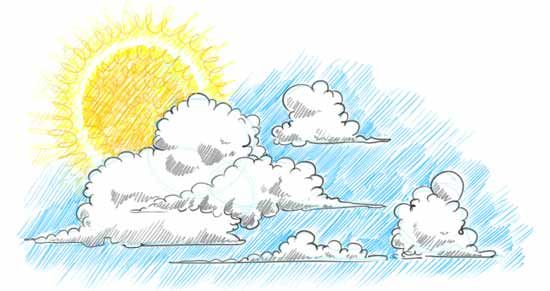 No More Boring Skies Learn How To Draw Clouds Step By Step In This Free Online Art Lesson Draw A Cloudscape By Adding T Cloud Drawing Cloud Painting Drawings