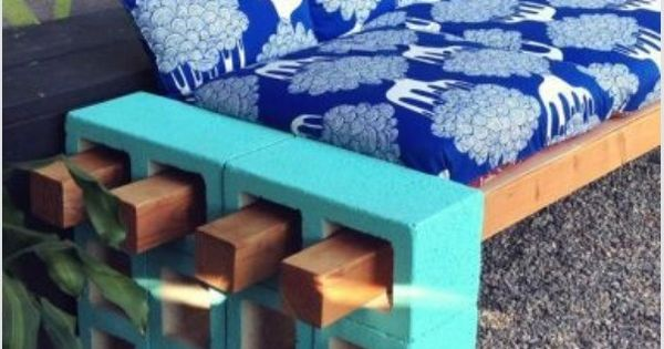 Cinder block seating outdoor creations pinterest for Cinder block seating area
