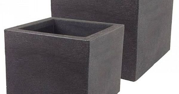 pflanzk bel 2er set anthrazit eckig garten pinterest more gardens ideas. Black Bedroom Furniture Sets. Home Design Ideas
