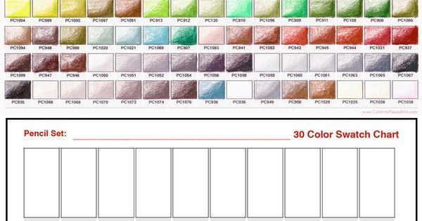 Prismacolor Premier Colored Pencil Swatch Charts Pfisma