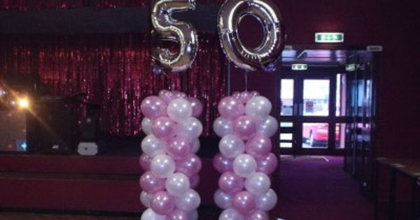 50th birthday party decorations but not pink maybe gold. Black Bedroom Furniture Sets. Home Design Ideas