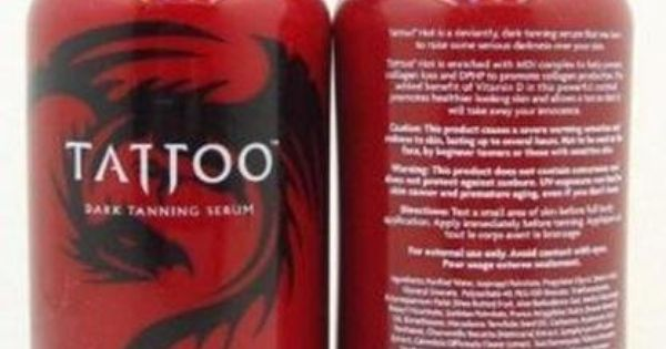 1 bottle of hot dark tanning serum tattoo tanning for Best lotion for old tattoos