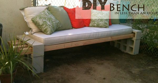 easy idea! DIY Outdoor Bench - in less than an hour