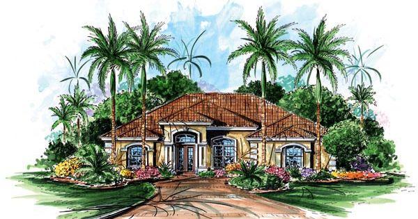 Florida Mediterranean House Plan 60505 Mediterranean