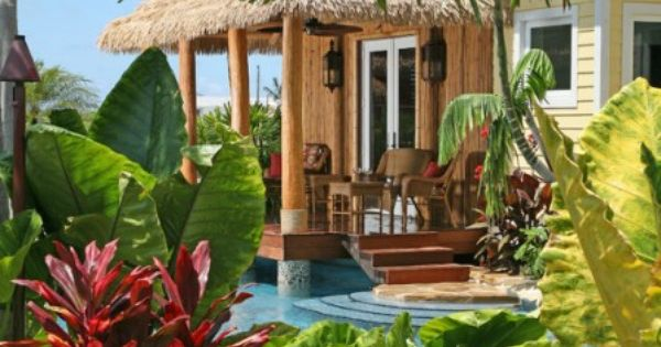 Tropical patio beach house pinterest campo de campo for Ideas para jardines de campo