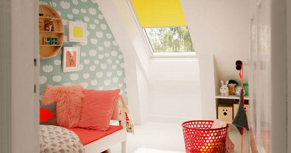 Chambre enfants color e velux chambre avec velux for Chambre enfant coloree
