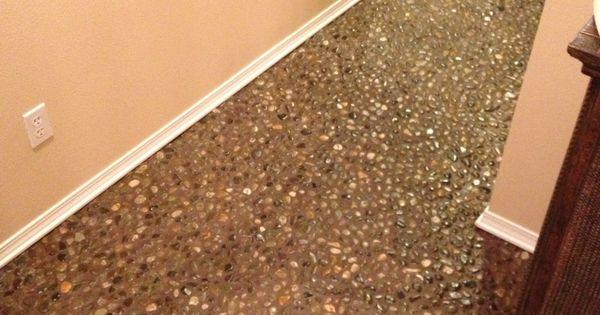 69 Diy River Rock Pebble Stone Hand Laid Floor Pebble