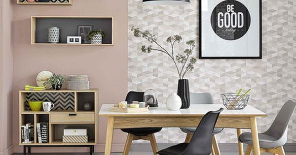 4 tag res murales en bois l 100 cm graphik maisons du. Black Bedroom Furniture Sets. Home Design Ideas