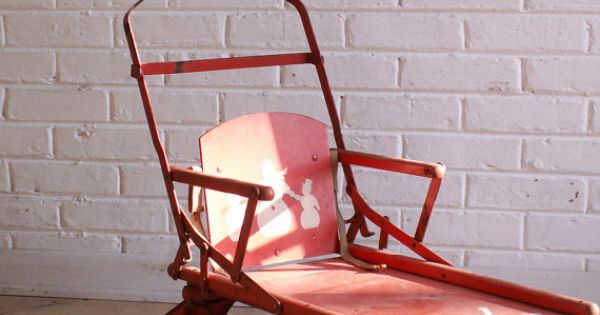 Vintage Red Stroller Sled The Sno Ler Great Christmas