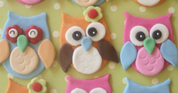 fondant owls - I'd like to think that I'd attempt to make