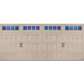 1 067 60 Pella Carriage House 16 Ft X 7 Ft Insulated Sandtone Double Garage Door With Windows Tripl Double Garage Door Garage Door Windows Garage Door House