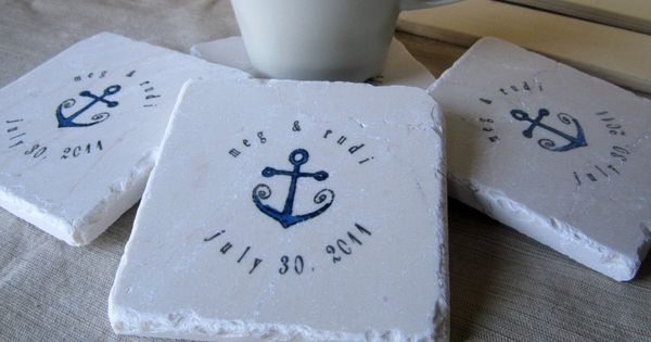 anchor favors google search the future pinterest wedding favour coasters party events and beach wedding favours