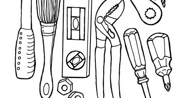 coloring pages for tool belt - photo#6