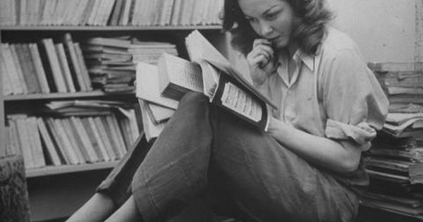 Sylvia Plath | Photo people reading books vintage library Plath