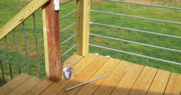 Conduit Metal Railing Our Deck Project Pinterest