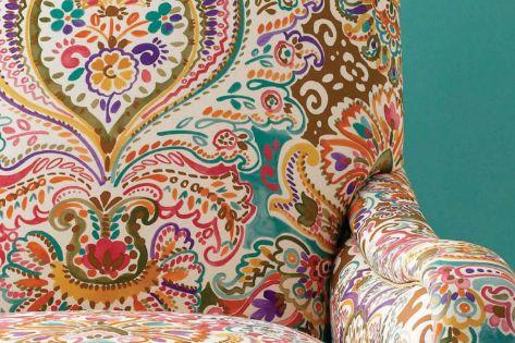 Colourful armchair