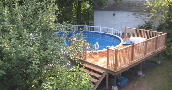 Ideas For Above Ground Pool Decks