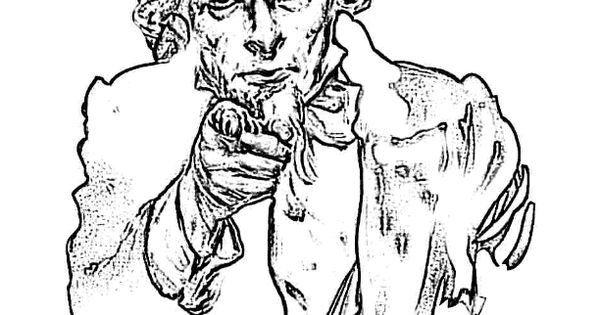 Patriotic #Coloring_Page Of #Uncle_Sam... You Can Print