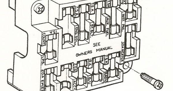 fuse block 1976