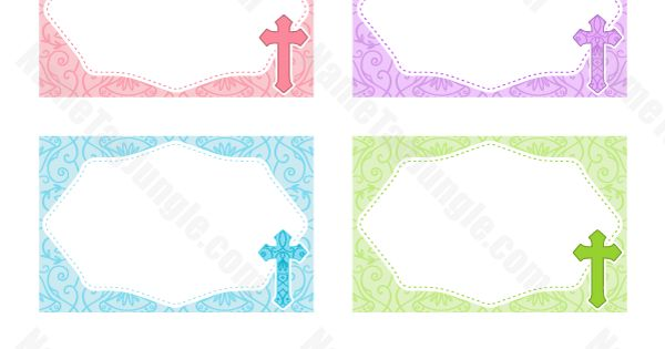 Free Printable Cross Name Tags. The Template Can Also Be