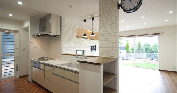 ケンコーホーム施工事例 壁掛け時計のあるキッチン ホーム 施工 キッチン