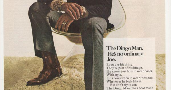 1970 Joe Namath Dingo Boots Advertisement NFL by fromjanet ...   600 x 315 jpeg 32kB