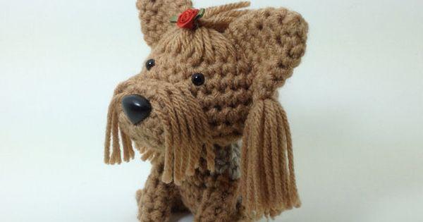Amigurumi Yorkie : Yorkie Stuffed Animal Yorkshire Terrier Amigurumi Dog ...