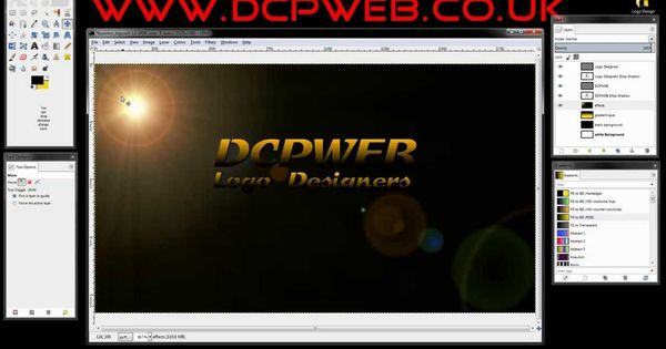 How To Design A Business Logo Using Gimp 2 8 Dcp Web Designers Tutorial Business Logo Web Design Gimp