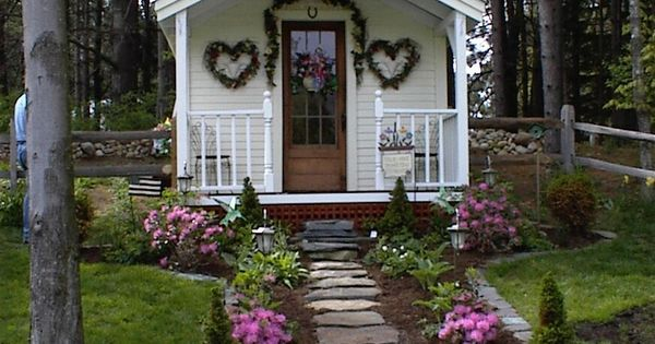 The cutest she shed 10x16 cottage includes quaint porch Better homes and gardens download